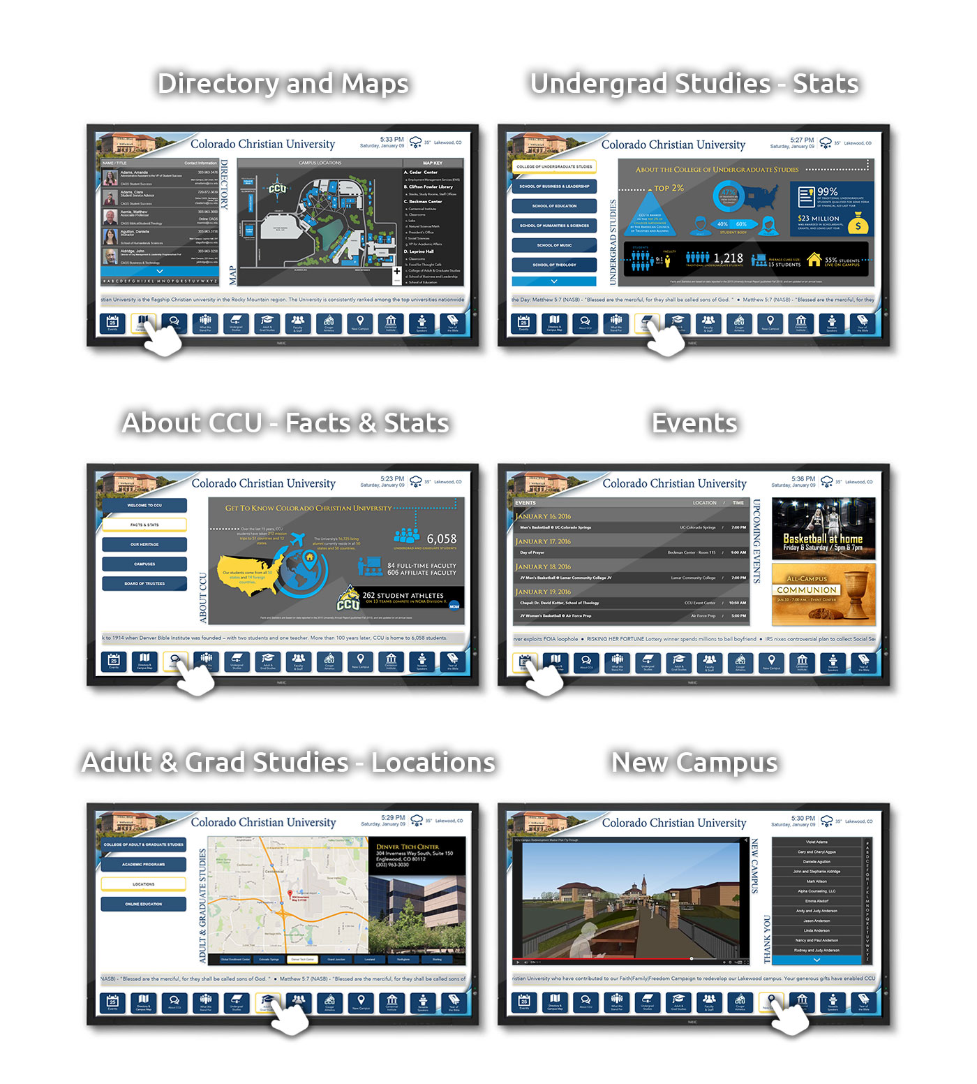 CCU Interactive TVs Multiple Pages