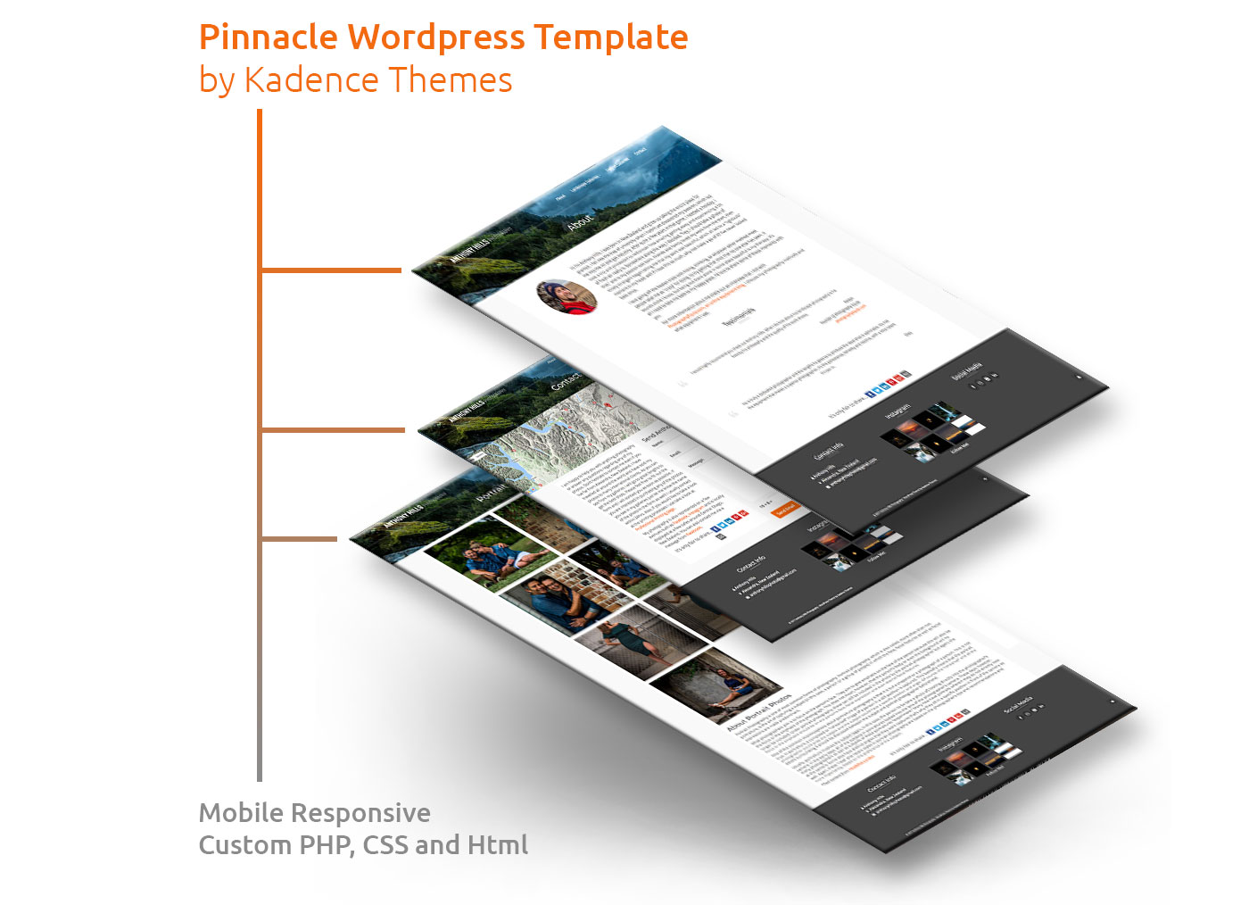 Pinnacle Wordpress Template example
