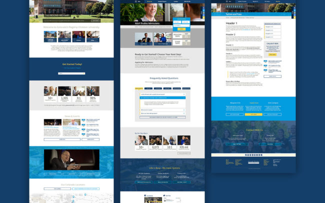 Colorado Christian University Main Website Templates