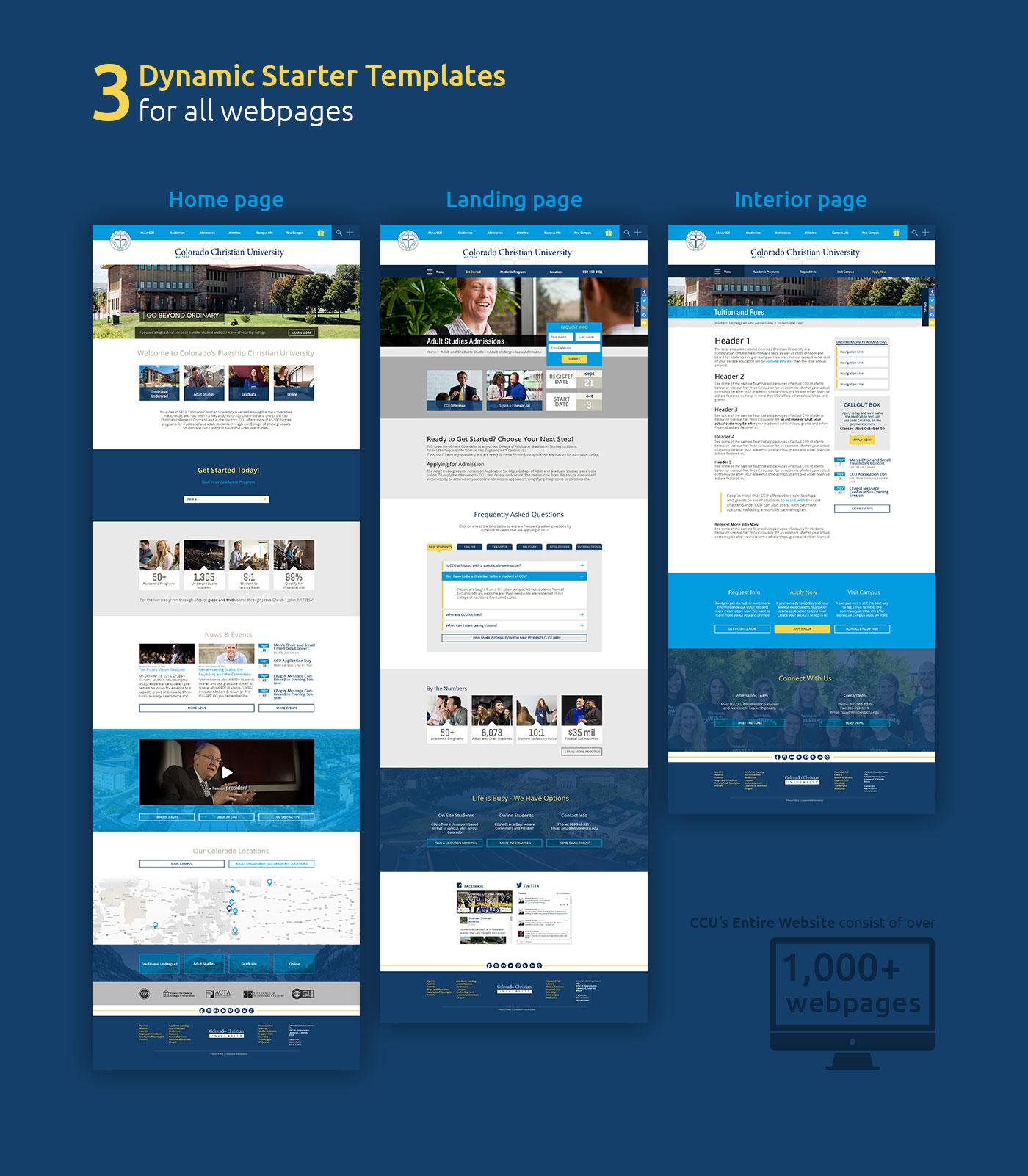 Colorado Christian University Main Website Templates