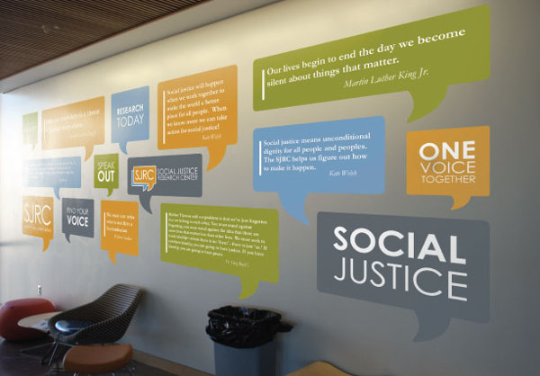 Social Justice Research Center Wall