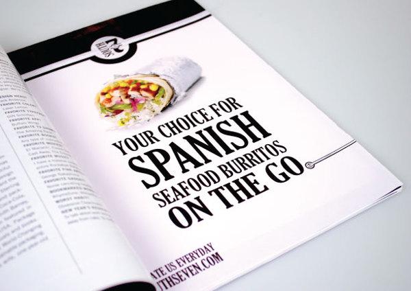 South Seven Burrito Magazine Ad