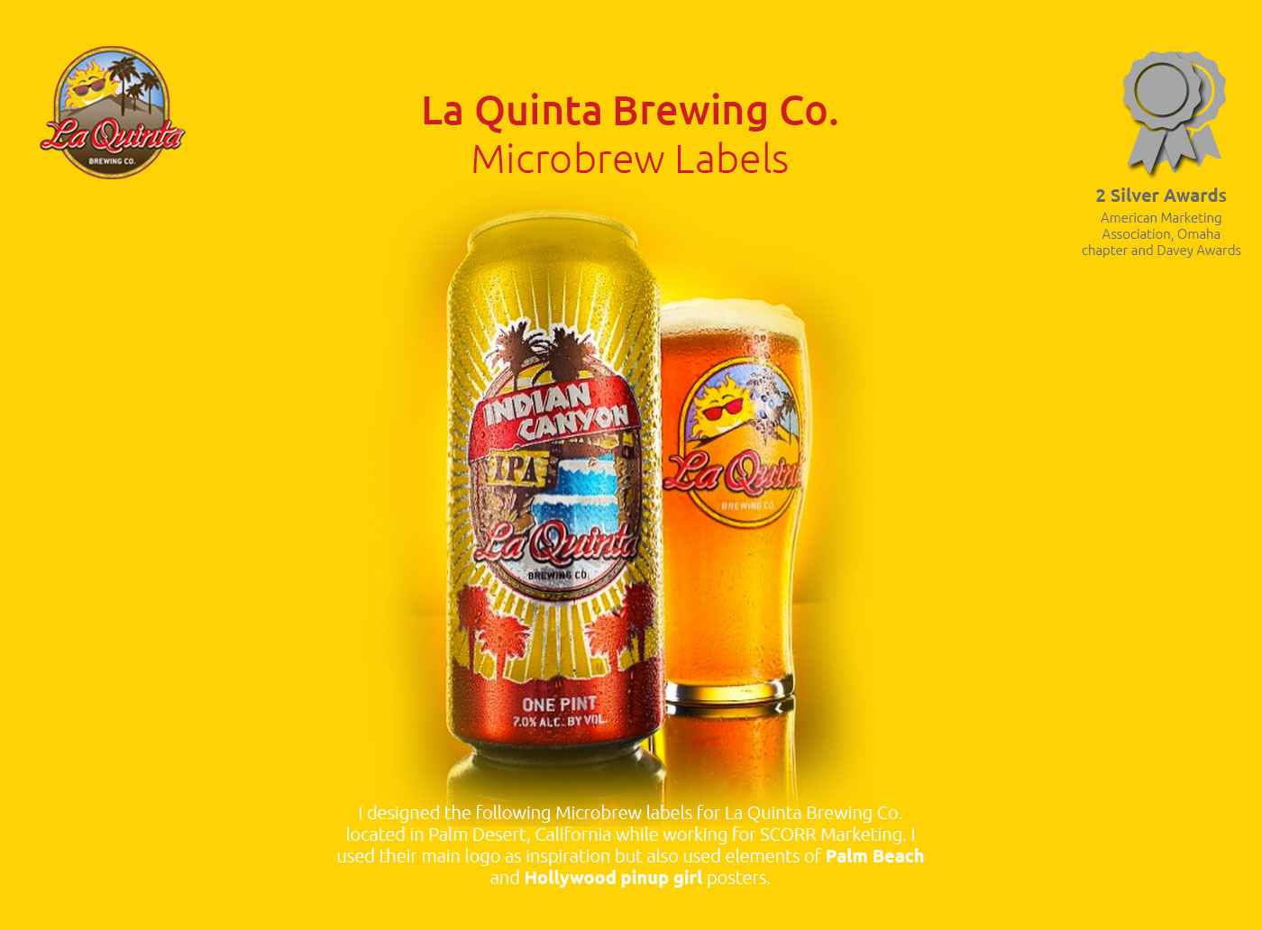 La Quinta Brewing Labels Indian Canyon