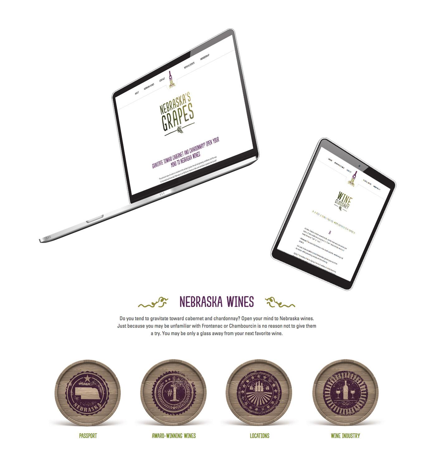 Nebraska Wine and Grape Growers Association Computer and Tablet