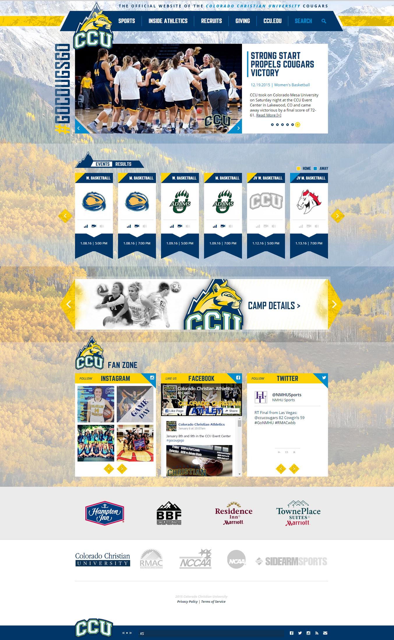 CCU Athletics Website New